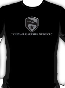 Joes Silver Quote and Logo T-Shirt