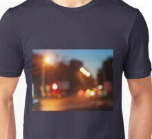 Night scene on the road Unisex T-Shirt