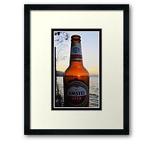 Sunset in a bottle ...... Framed Print