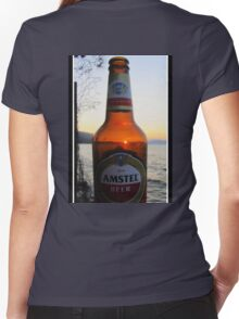 Sunset in a bottle ...... Women's Fitted V-Neck T-Shirt