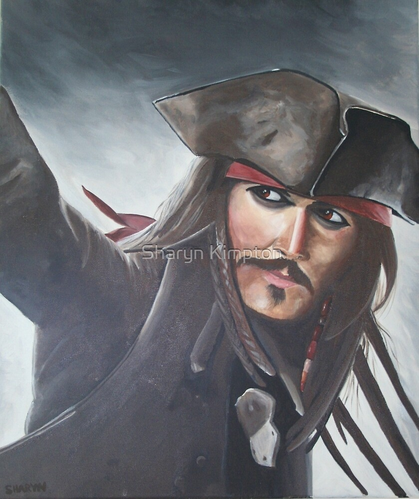 Captain Jack Sparrow - Johnny Depp by Sharyn Kimpton