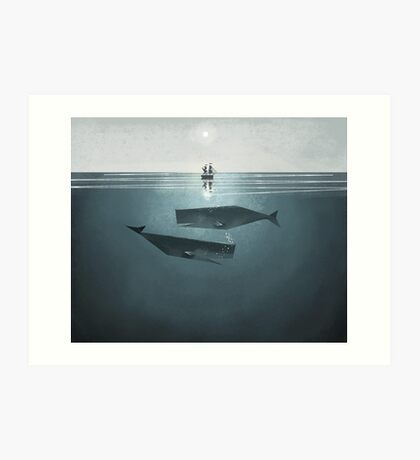 At sea. Art Print