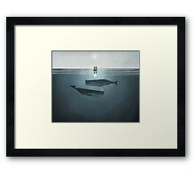At sea. Framed Print