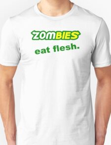 FUNNY  ZOMBIES EAT FLESH SUBWAY HALLOWEEN DEAD GORY ZOMBIE PARODY SICK T-Shirt