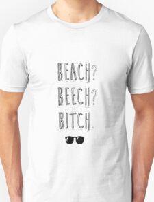 """BTS Bangtan Taehyung Jimin  """"Beach? Beech? B*tch."""" Milky Design Unisex T-Shirt"""