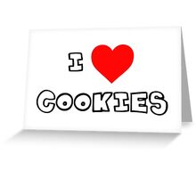 I Heart Cookies Greeting Card