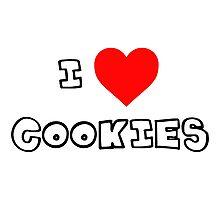 I Heart Cookies Photographic Print
