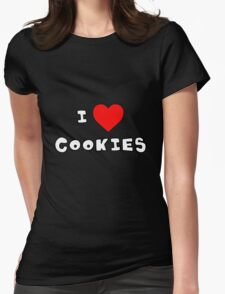 I Heart Cookies Womens Fitted T-Shirt
