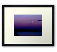 Moon over the Clyde Framed Print