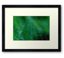 Matrix On Green Framed Print