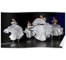 Latin American Dancers Poster