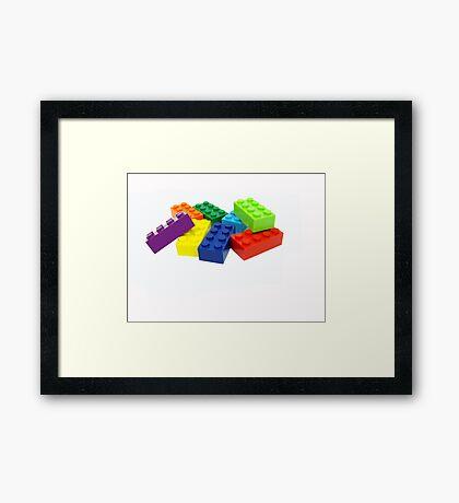 Building blocks. Framed Print