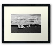 Passing Ships Framed Print