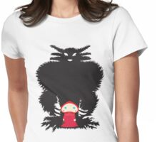 Little Red and Big Wolf Womens Fitted T-Shirt