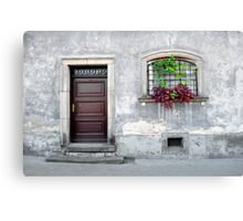 Simple old house facade. Canvas Print