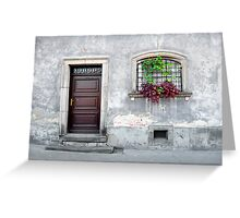 Simple old house facade. Greeting Card