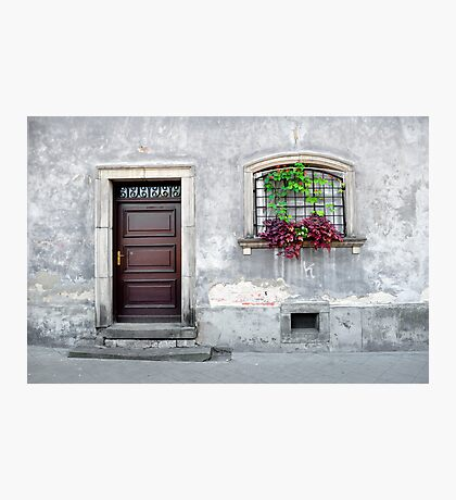 Simple old house facade. Photographic Print
