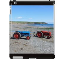 Boat tractors on Aberdaron beach, Llyn, North Wales iPad Case/Skin