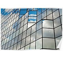 Glass office building. Poster