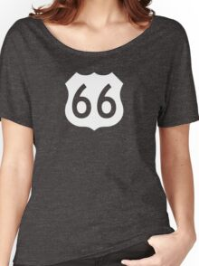 US Route 66 Sign, New Style Women's Relaxed Fit T-Shirt
