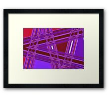 Where The Roads Cross Framed Print