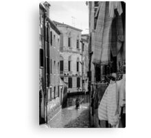 Washing Hanging in Venice Canvas Print