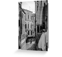 Washing Hanging in Venice Greeting Card