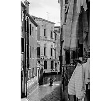 Washing Hanging in Venice Photographic Print