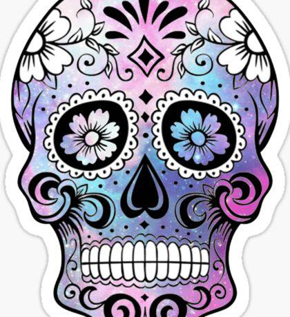 Sugar Skull Galaxy Sticker