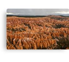 Bryce canyon Storm Canvas Print