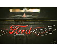 Rat Rod Ford Detail Photographic Print