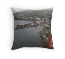 View of North Queensferry from Forth Bridge Throw Pillow