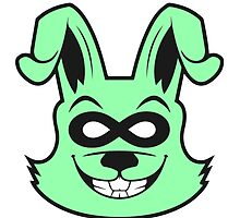 Buzzed Bunny Green by lonelycreations