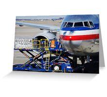 Air transportation. Greeting Card