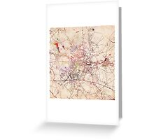 Poznan map watercolor painting Greeting Card