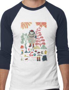 Bear Travel - Let's Go Men's Baseball ¾ T-Shirt