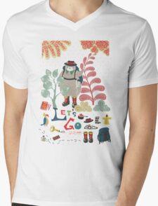 Bear Travel - Let's Go Mens V-Neck T-Shirt