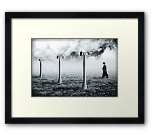 The Umbrella Carrier Framed Print