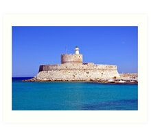 Fort Saint Nicholas, Rhodes, Greece. Art Print