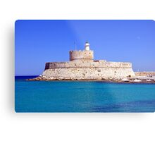 Fort Saint Nicholas, Rhodes, Greece. Metal Print