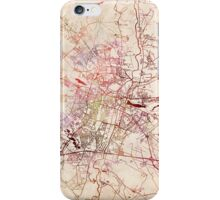 Poznan map watercolor painting iPhone Case/Skin
