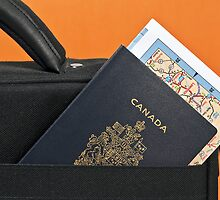 Canadian passport and map. by FER737NG