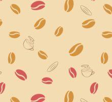 Classic coffee pattern Sticker