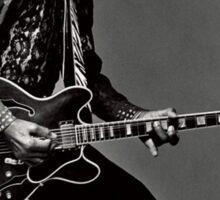 Black Guitarist Sticker