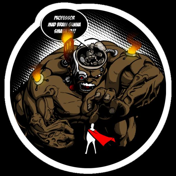 Mad Professor Smash! sticker by Michael Lee
