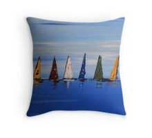 Starting Line Throw Pillow