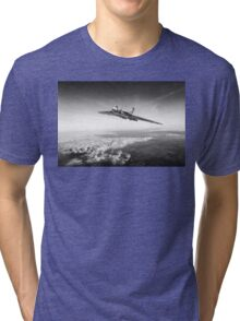 Vulcan in flight, black and white version Tri-blend T-Shirt