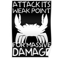 GIANT ENEMY CRAB -white- Poster