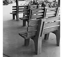 Benches Photographic Print
