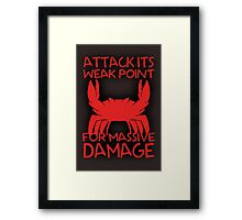 GIANT ENEMY CRAB -red- Framed Print
